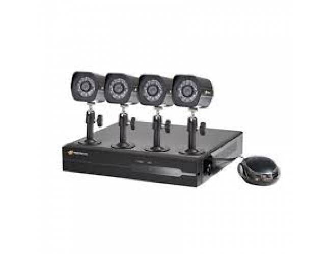 NightWatcher NW-4NVR-1TB-C720-2B Plug & Play 1TB 4 Channel NVR 4x720p Bullet Camera POE CCTV Kit