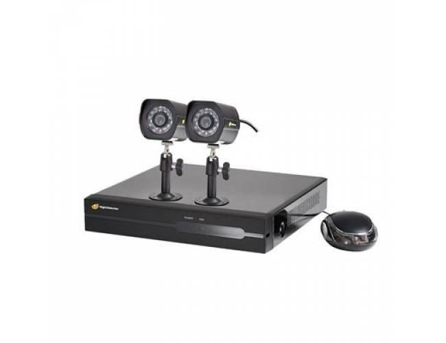 NightWatcher NW-4NVR-1TB-C720-2B Plug & Play 1TB 4 Channel NVR 2x720p Bullet Camera POE CCTV Kit