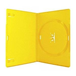 25 x Yellow High Quality Plastic Colouring 14mm CD DVD Single Cases