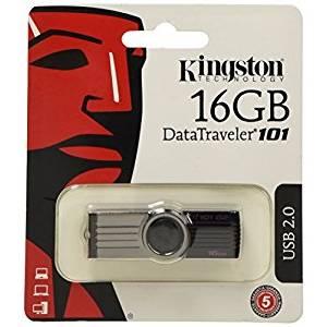 Kingston DataTraveler 101 G2 16GB USB 2.0 Black USB Flash Drive