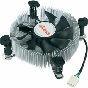 Akasa AK-CCE-7106HP Intel Socket 74mm PWM 3000rpm Low Profile Fan CPU Cooler