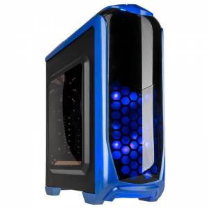 Kolink Aviator Midi Tower Gaming Case - Blue