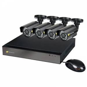 NightWatcher NW-8AHD-1TB-C720-8B Plug & Play 1TB 8 Channel AHD DVR 4x720p Bullet Camera CCTV Kit