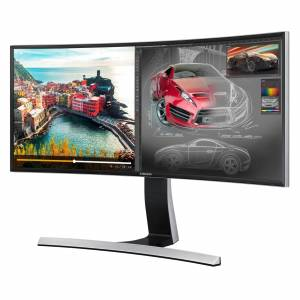 "Samsung S34E790C 34"" Ultra-Wide LED Widescreen HDMI/DisplayPort Premium Curved Monitor"