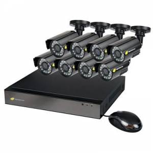 NightWatcher NW-8AHD-1TB-C720-8B Plug & Play 1TB 8 Channel AHD DVR 8x720p Bullet Camera CCTV Kit