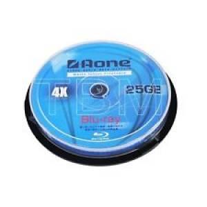 10 Aone Blu-Ray Disc White Inkjet Printable 25GB 4x BDR25gb BDR 25gb blank discs