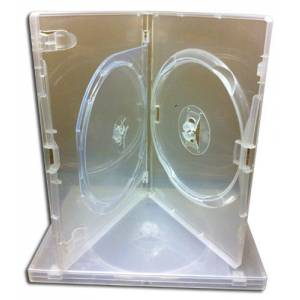 Amaray DVD CD Blu Ray Videos Clear Double Case Pack of 25